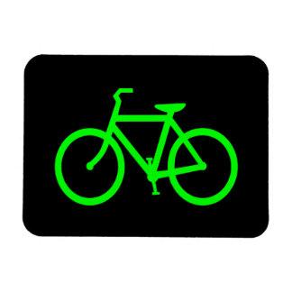 Lime Green Bike Rectangular Photo Magnet