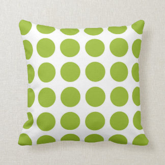 Lime Green Polka Dots Pillow Cushions
