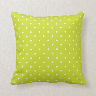 Lime Polka Dot Design Throw Cushion