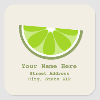 Lime Wedge Address Label Sticker