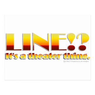 Line!? (Text Only) Postcard