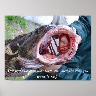 Ling cod poster at the Washington coast.