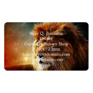 Lion face .King of beasts abstraction Pack Of Standard Business Cards