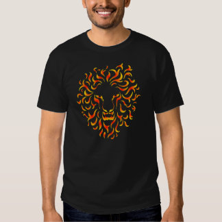 Lion Head with ethnic fire colors. M1. Tee Shirts