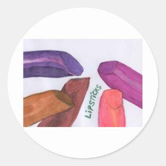 Lipsticks Round Sticker