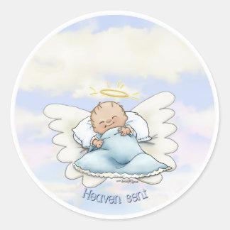Litlle Baby Boy - Angel sent from above Round Sticker