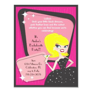 Little Black Dress_Blonde Bombshell 11 Cm X 14 Cm Invitation Card