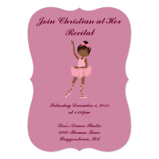 Little Girl's Dance recital 13 Cm X 18 Cm Invitation Card
