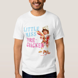 Little Miss Firecracker Vintage Americana Shirt