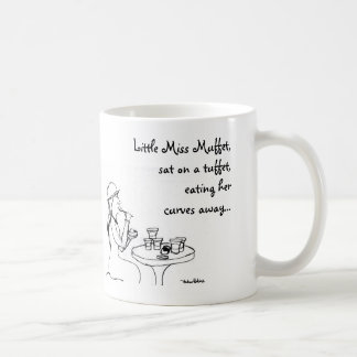 Little Miss Muffet, Basic White Mug