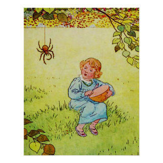 Little Miss Muffet Poster