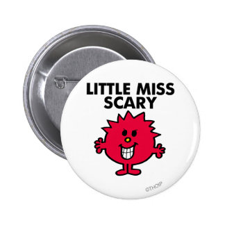 Little Miss Scary | Black Lettering 6 Cm Round Badge