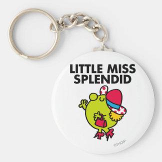 Little Miss Splendid | Black Lettering Basic Round Button Key Ring