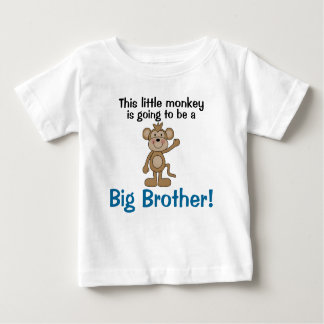 Little Monkey Big Brother T Shirt