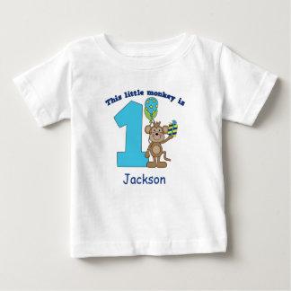 Little Monkey Kids 1st Birthday Personalized Tee Shirts