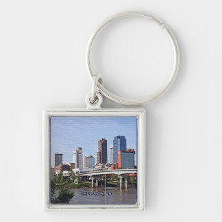 Little Rock, Arkansas Silver-Colored Square Key Ring