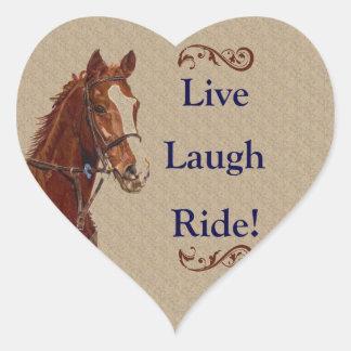 Live Laugh Ride! Horse Heart Sticker