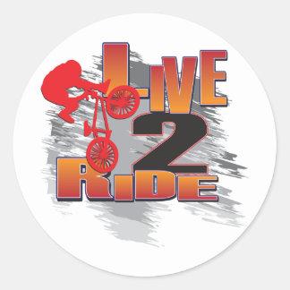Live to Ride - Ride to Live Round Sticker