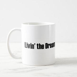 Living The Dream Basic White Mug