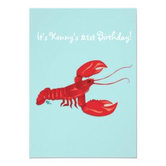 Lobster Birthday Party Invitation