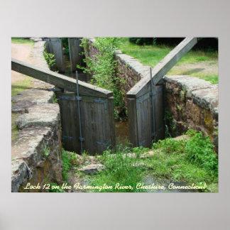Lock 12 on the Farmington River, Cheshire, CT Poster