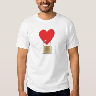Lock locked heart heart closed PAD LOCK T Shirt