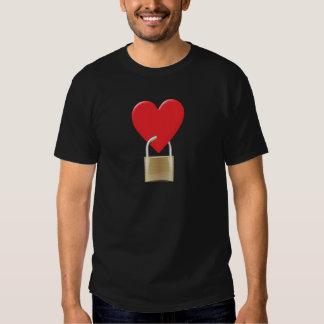Lock locked heart heart closed PAD LOCK Tshirt
