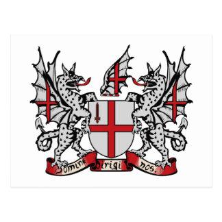 London Coat of Arms Postcard