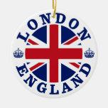 London England British Flag Roundel Round Ceramic Decoration