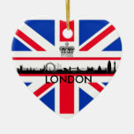 London Eye Union Jack Flag Christmas Ornament
