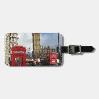London Phone box & Big Ben (St.K) Luggage Tags
