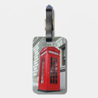 London Red Phone Box Luggage Tag