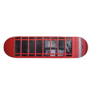 London Red Telephone Box 18.1 Cm Old School Skateboard Deck