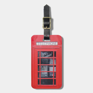 London Red Telephone Box Luggage Tag