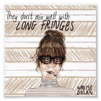 Long fringes photo print