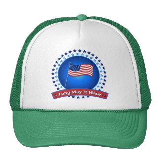Long May It Wave Patriotic America US Flag Cap