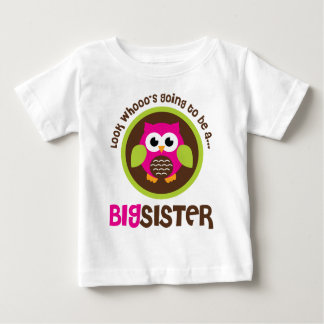 Look Whoos Going to be a Big Sister Owl Shirts
