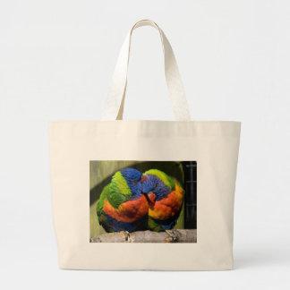 Lorikeets in Love Jumbo Tote Bag
