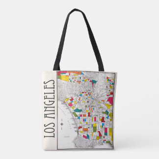 Los Angeles Street Map Colorful Tote Bag