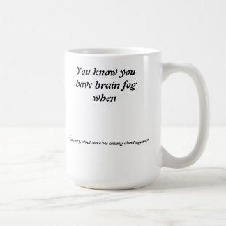 Lost Concentration Basic White Mug
