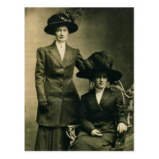 Lottie & Rosie ZARFOS in fancy hats Postcard