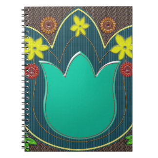 LOTUS Temple Art Refreshing Healing Colors GIFTS Spiral Note Book