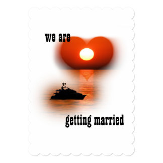 love are in the air sundown 13 cm x 18 cm invitation card