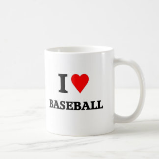 Love baseball basic white mug