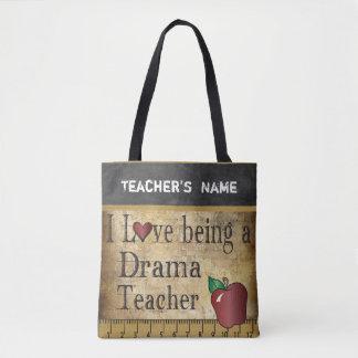 Love Being a Drama Teacher   DIY Name Tote Bag