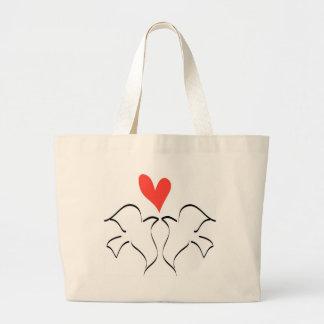 Love Doves Jumbo Tote Bag