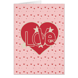 Love Hearts and Stars Valentine's Greeting Card