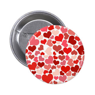 Love Hearts Pattern Valentine's Day 6 Cm Round Badge