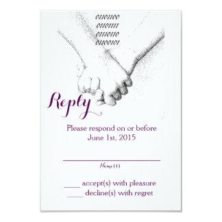 'Love in Binary' Wedding Reply Card 9 Cm X 13 Cm Invitation Card