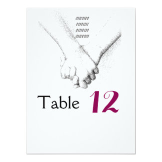 'Love in Binary' Wedding Table Card 17 Cm X 22 Cm Invitation Card